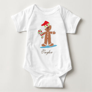 Gingerbread Man Personalize Baby Bodysuit