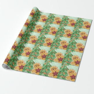Gingerbread Man Photo Gloss Wrapping Paper