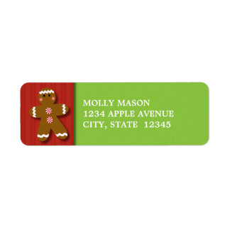 Gingerbread Man Return Address Labels