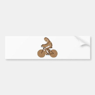 Gingerbread Man Riding Bike With Gingersnap Cookie Bumper Sticker