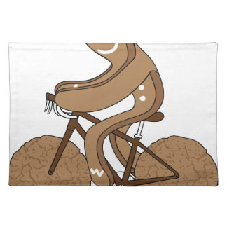 Gingerbread Man Riding Bike With Gingersnap Cookie Placemat
