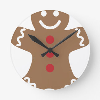 Gingerbread Man Round Clock