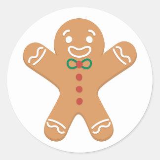 Gingerbread Man Round Sticker