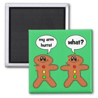 gingerbread man square magnet