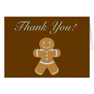 Gingerbread Man thank you Card