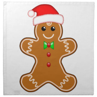 Gingerbread man with hat napkin
