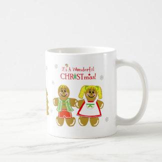 Gingerbread Man & Woman Christmas Mug