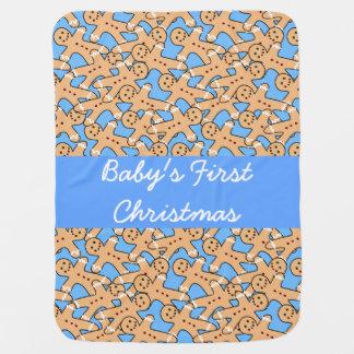 Gingerbread men baby blanket