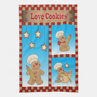Gingerbread Men Bakers Love Cookies Kitchen Towel