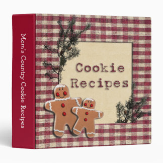Gingerbread Men Cookies 3 Ring Binder