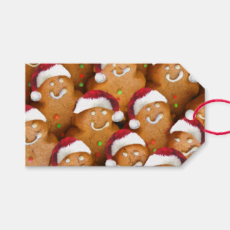 Gingerbread Men Happy Holidays Gift Tags