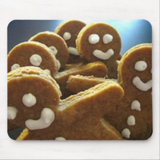 gingerbread men mouse pad