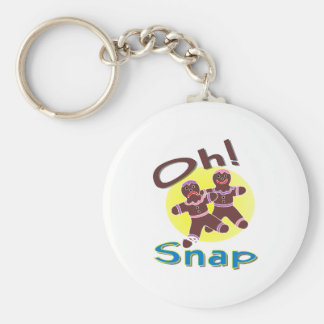 Gingerbread Men Oh Snap Keychain