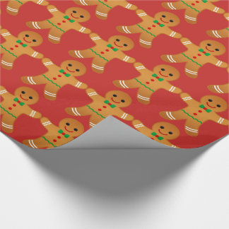 Gingerbread Men Pattern - Wrapping paper