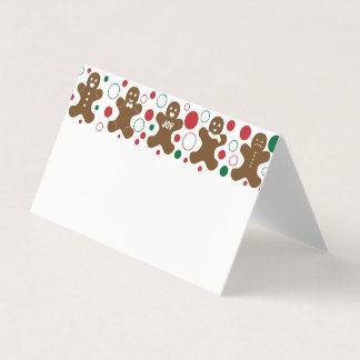 Gingerbread Men Place Card