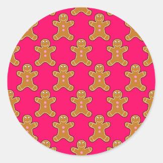 Gingerbread Men Round Sticker