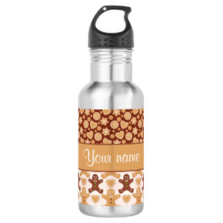 Gingerbread Men, Smiley Faces and Hearts 532 Ml Water Bottle