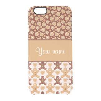 Gingerbread Men, Smiley Faces and Hearts Clear iPhone 6/6S Case