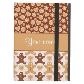 Gingerbread Men, Smiley Faces and Hearts iPad Air Cover