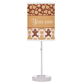 Gingerbread Men, Smiley Faces and Hearts Table Lamp
