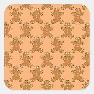 Gingerbread Men Square Sticker