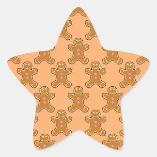 Gingerbread Men Star Sticker