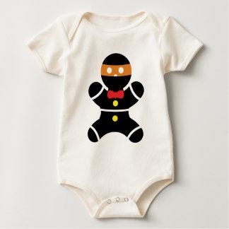 Gingerbread Ninja 2a Baby Bodysuit