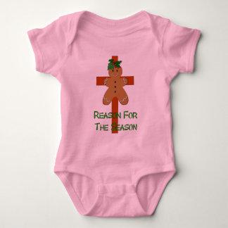 Gingerbread On A Cross Baby Bodysuit