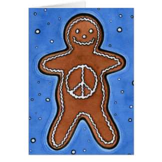 Gingerbread Peace Card