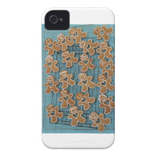 Gingerbread people iPhone 4 Case-Mate cases