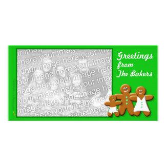 Gingerbread Photo Card  Template (Trad. Trio boy)