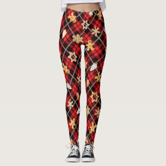 Gingerbread Red Leggings