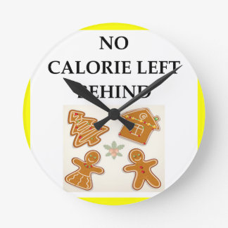 gingerbread round clock