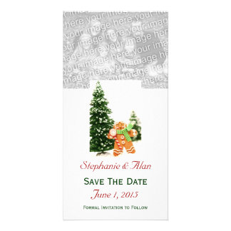 Gingerbread Save The Date PhotoCards Photo Greeting Card