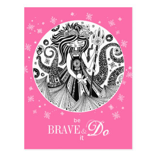 Gingerbread Sea Witch | Pink Postcard