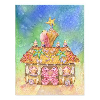 Gingerbread SeaCasa Postcard