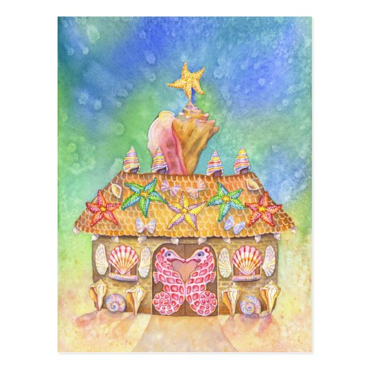 Gingerbread SeaCasa Postcard