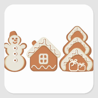 gingerbread square sticker