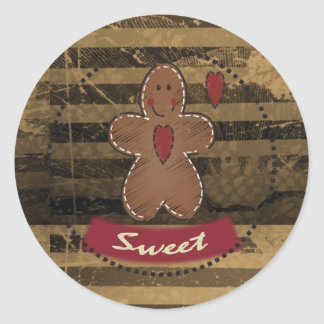Gingerbread Sweet Round Sticker