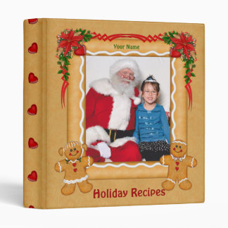 Gingerbread Theme Holiday Album Binders