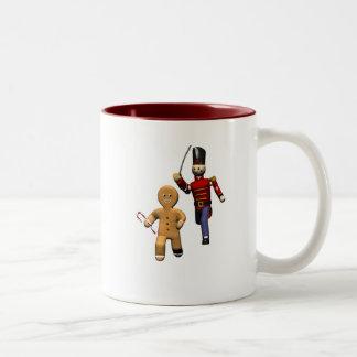 Gingerbread Thief Two-Tone Coffee Mug