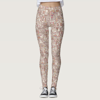 gingerbread town leggings