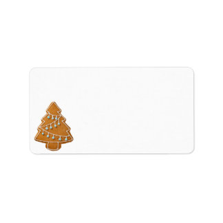 Gingerbread Tree Isolated On White Background
