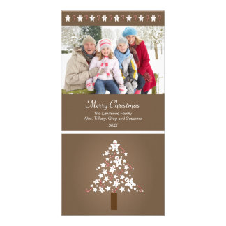 Gingerbread Tree Photocard (taupe) Card