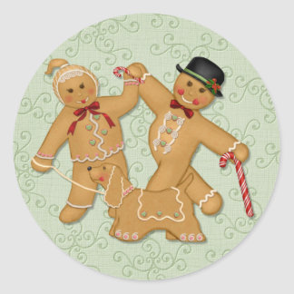 Gingerbread Trio 2 Classic Round Sticker
