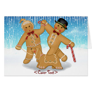 Gingerbread Trio Card