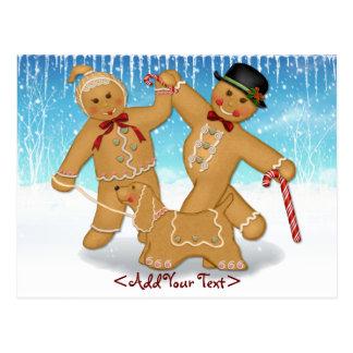Gingerbread Trio Postcard