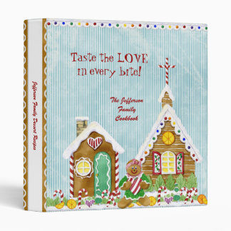 Gingerbread Village Family Dessert Cookbook Binder