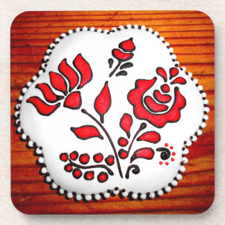 Gingerbread With Hungarian Motifs Drink Coasters
