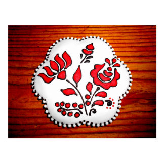 Gingerbread With Hungarian Motifs Postcard